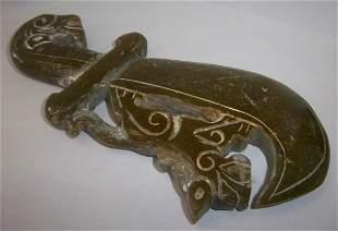 Carved Jade knife