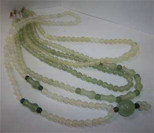 Set of 4 Jade necklaces