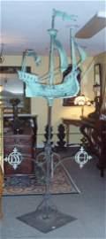 130: 1909 tri-centennial model galleon weathervane