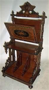 223: C1860 American Renaissance walnut folio stand