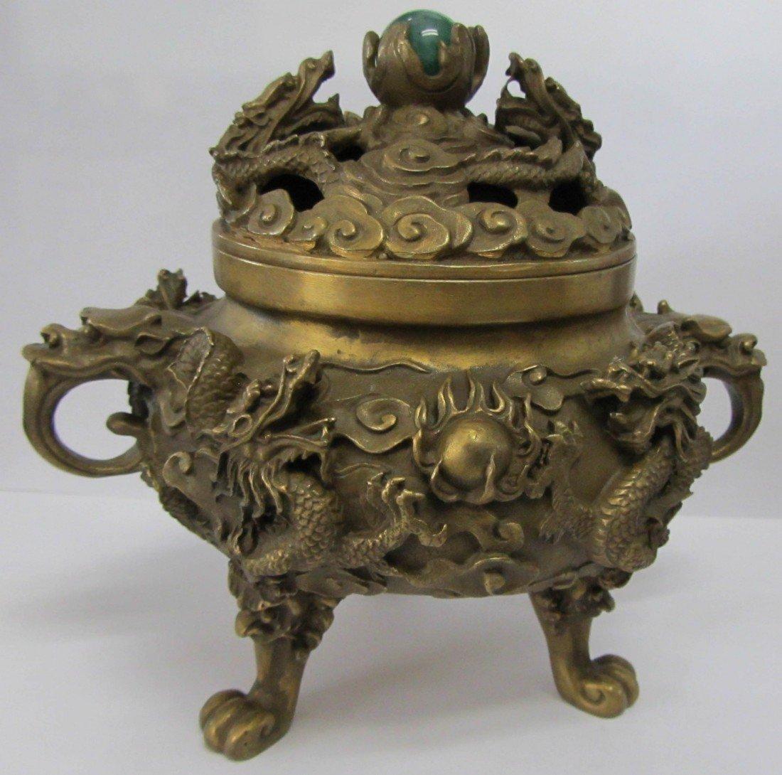1: Brass incense burner
