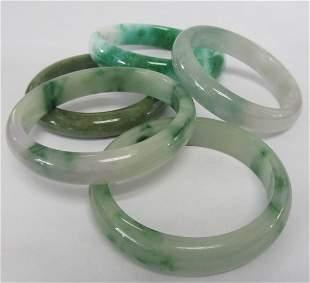 5 Jade Bangles