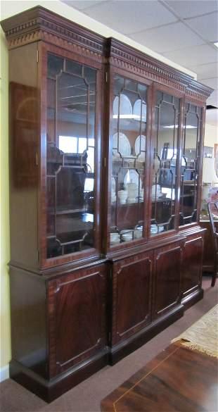 20th C. Mahogany 4 door custom breakfront