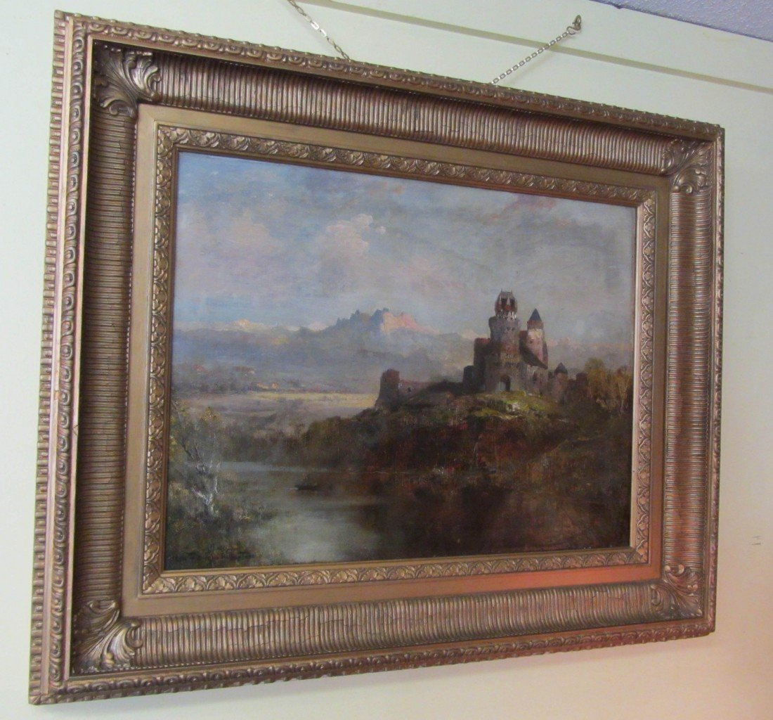 21: Beautiful Large oil on canvas in fancy frame