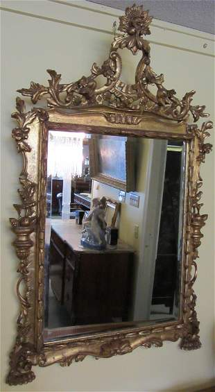 20th C. French style gilt mirror