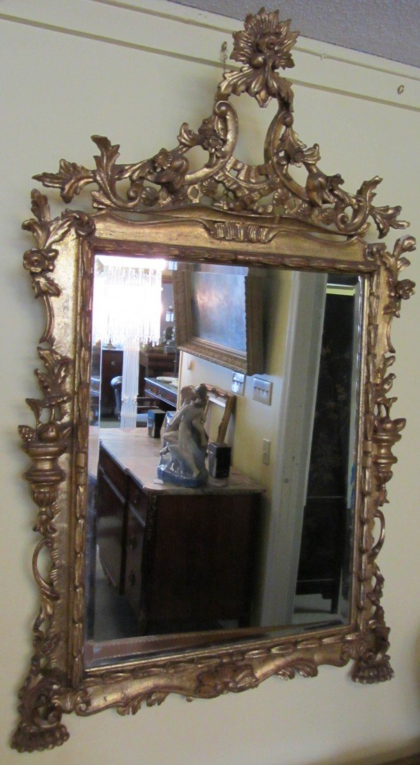 24: 20th C. French style gilt mirror