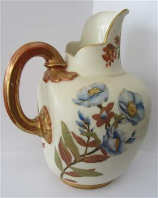 Royal Worchester floral porcelain pitcher