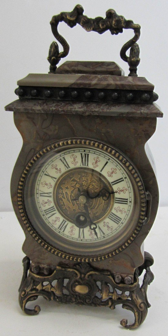 132: 20th C. Marble carriage clock
