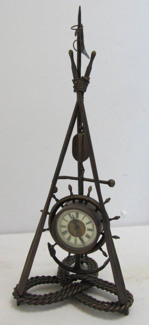 133: 20th C. Bronze nautical clock