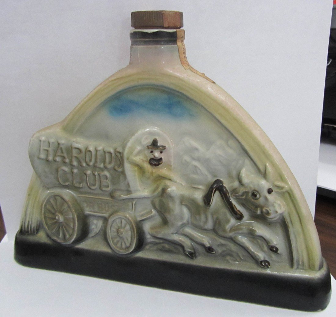 11: C1969 Vintage Jim Beam Harolds club decanter