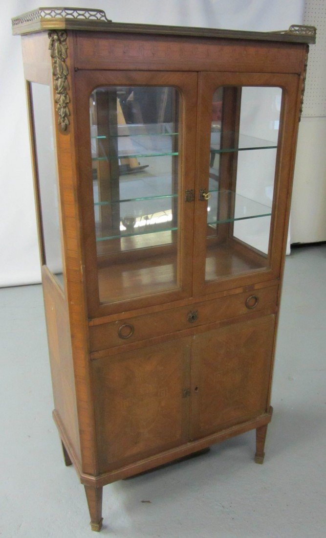 50: 19th C. French Kingswood marbletop cabinet
