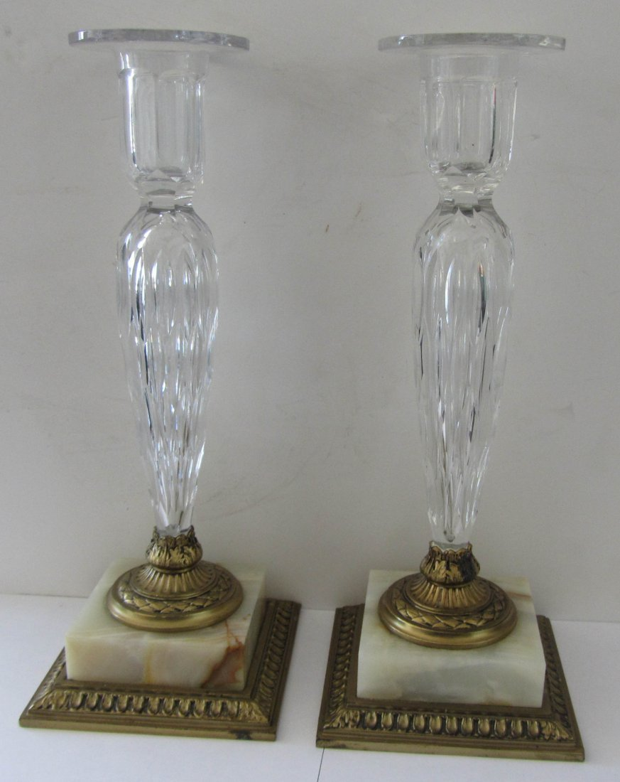 6: Pr. C1900 signed Pairpoint candlesticks