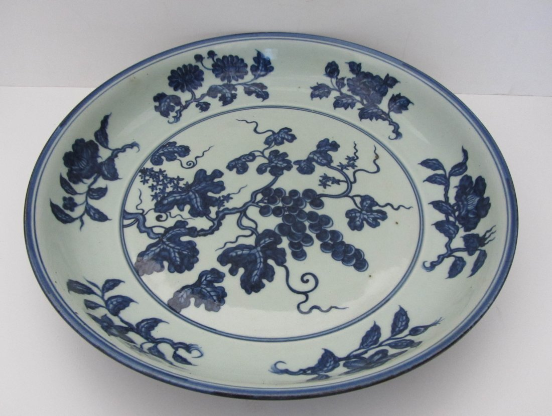 9: Antique Blue and white charger