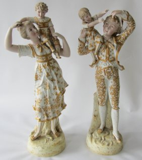 Pr. Ea. 20th C. German Figural Statues
