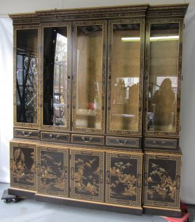 Large 20th C. Chinoiserie Breakfront