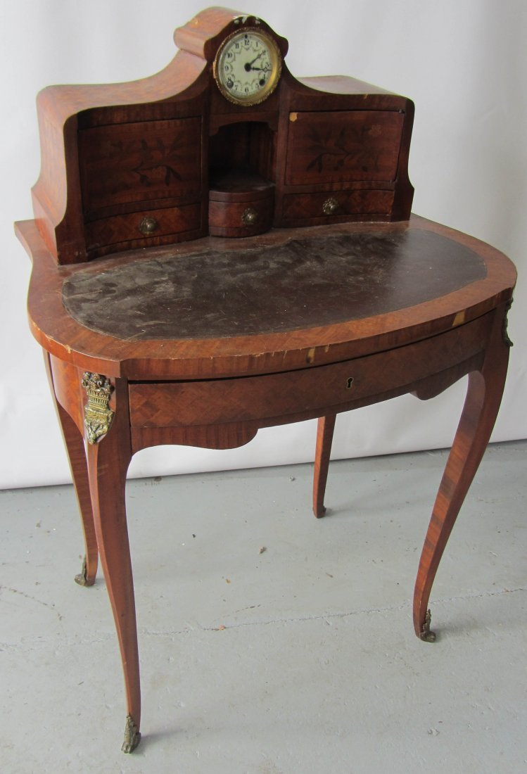 53: Rare 19th C. marquentry inlaid ladies desk