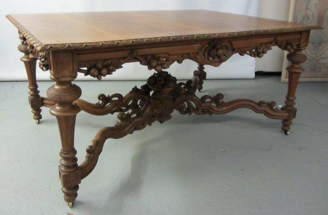 92: C1860 Walnut Victorian center table
