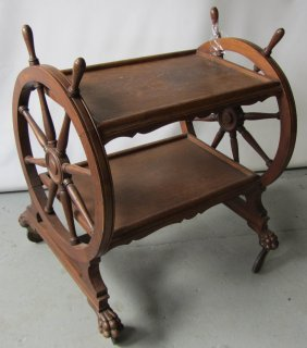 C1890 American Quartersawn Oak Tea Cart