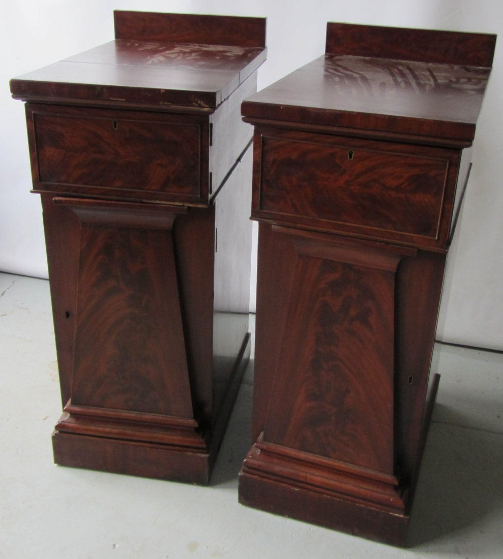 80: Pair of Ea. C1840 Empire side cabinet