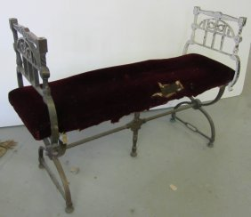 Unique C1900 Bronze Window Bench