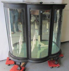 C1890 Quartersawn Oak American Curio Cabinet