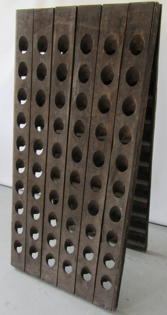 116: 19th C. French double sided wine rack