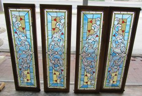 4 Stained Glass Windows