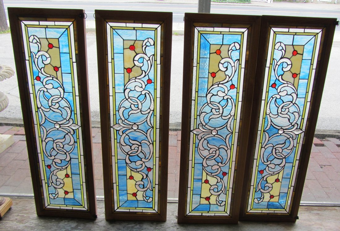 137: 4 Stained glass windows
