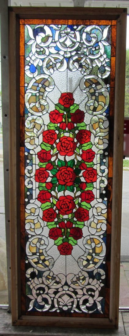 142: 20th C. stained glass window