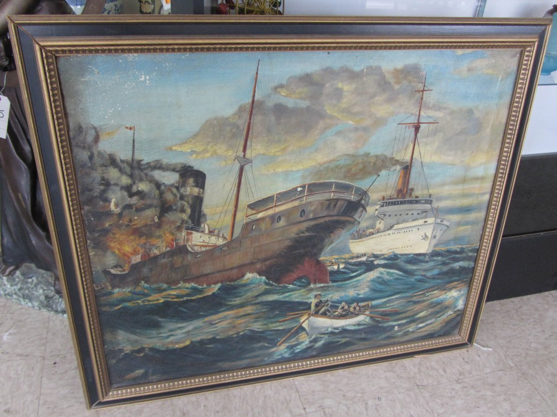 146: Ea. 20th C. Signed John D. Wisinsky oil on canvas