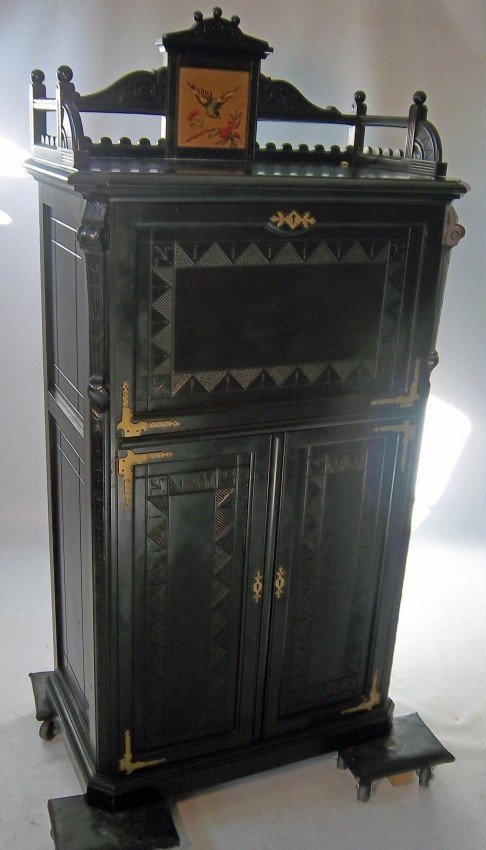 166: C1870 Am. Aesthetic music cabinet