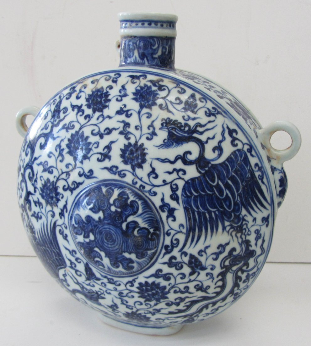 167: Chinese blue and white pot
