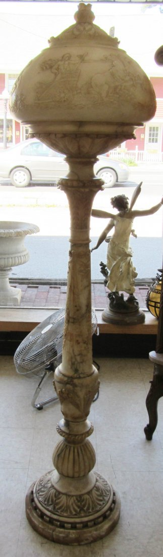 299: C1900 Fine quality alabaster floor lamp