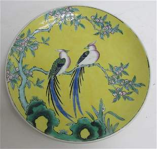 19th C. Chinese charger with birds
