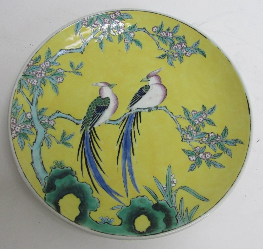 8: 19th C. Chinese charger with birds