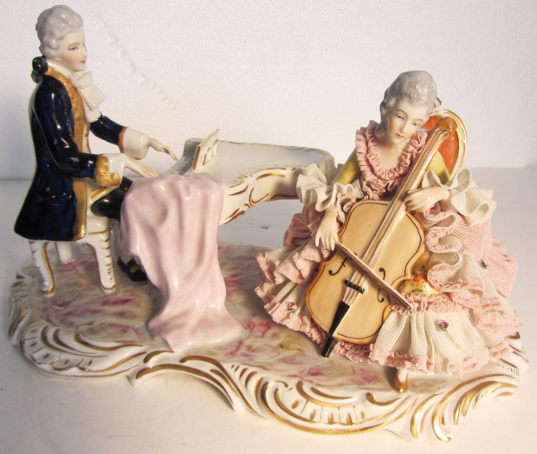 13: 19th C. Dresden grouping of musicians