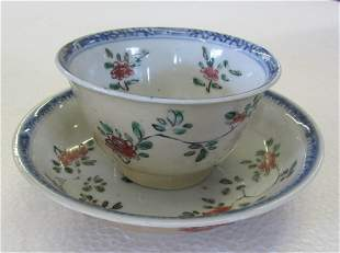 C1770 Oriental cup and saucer