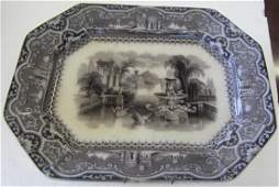 17A: W. Adams and Sons Mulberry platter