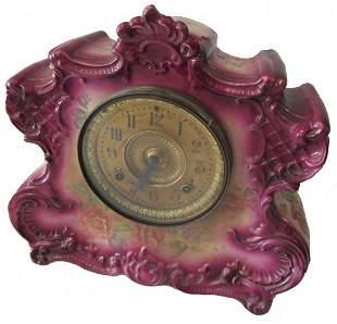 C1900 Ansonia Clock Co. with Royal Bonn case