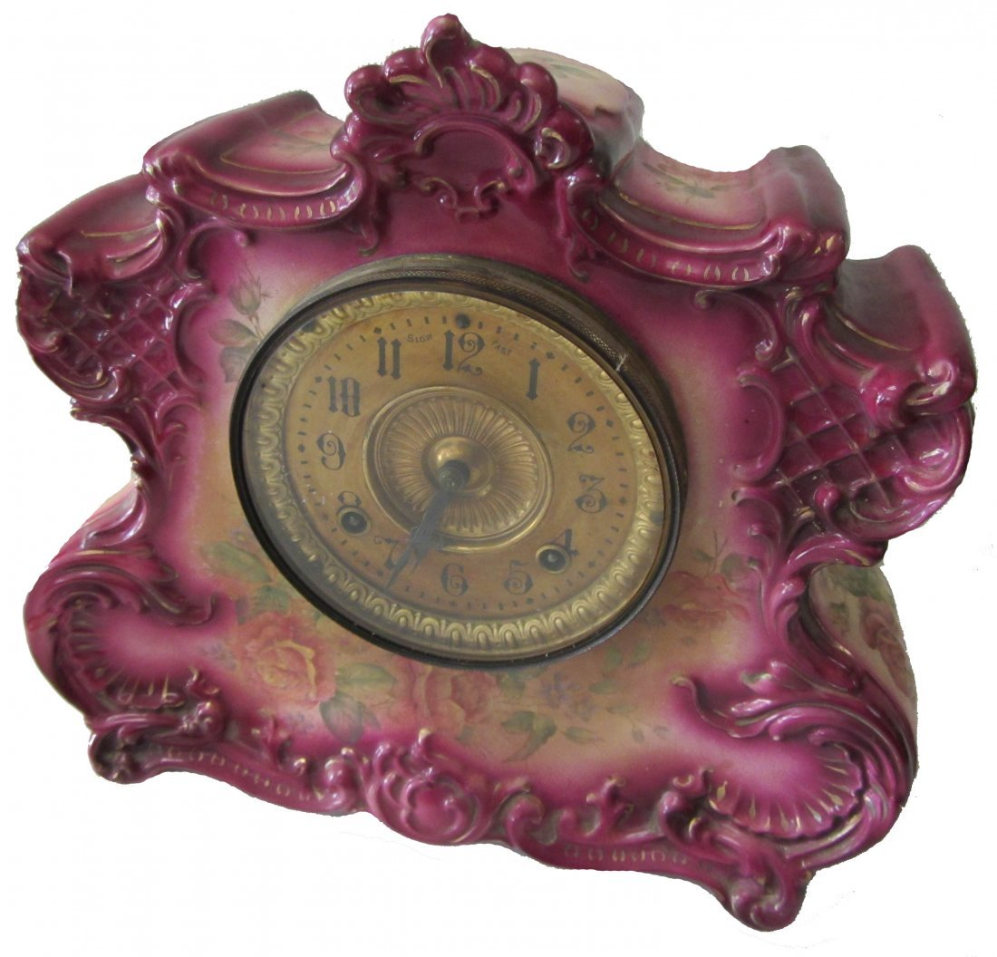 1: C1900 Ansonia Clock Co. with Royal Bonn case
