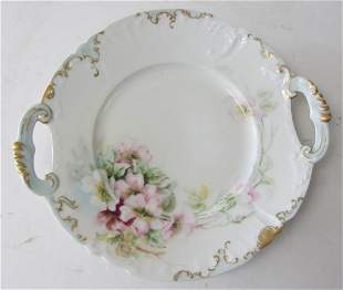 Ea. 20th C. Limoges handpainted handeled dish