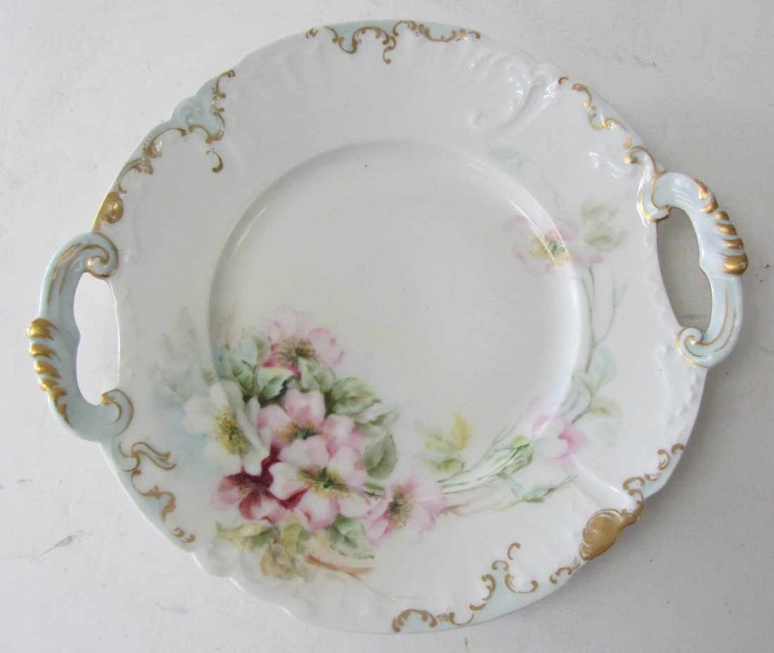 3: Ea. 20th C. Limoges handpainted handeled dish