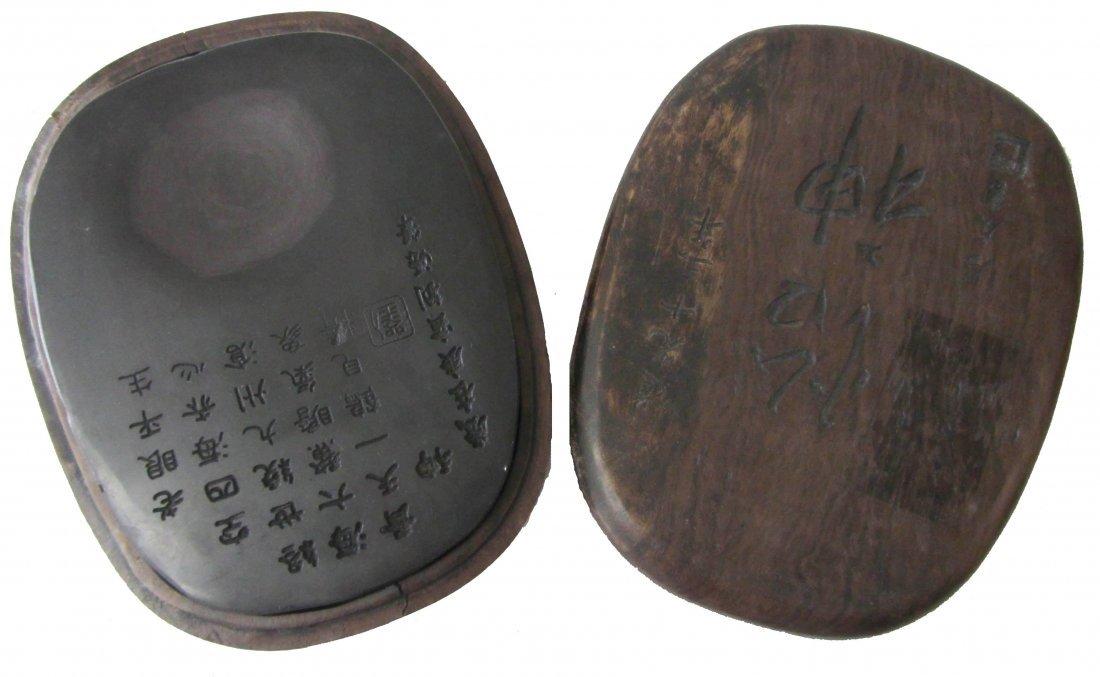 12: Chinese inkstone in Zitan box