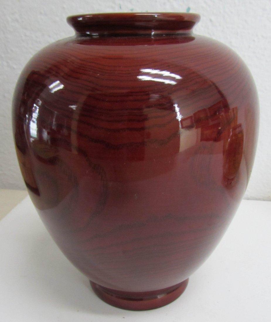 23: 20th C. Red vase