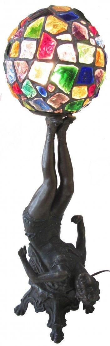 24: Rare American Art Deco dancer lamp