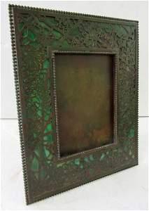 25A: 19th C. Tiffany Studios Grapevine frame