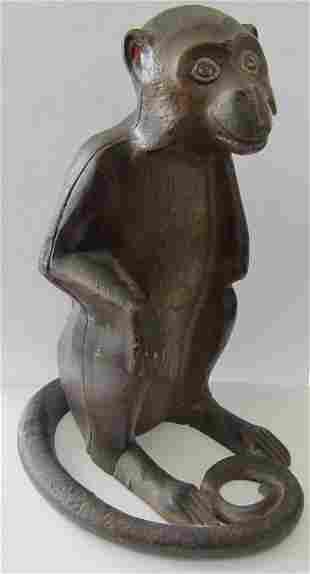 C1930 Cast iron Monkey door stop