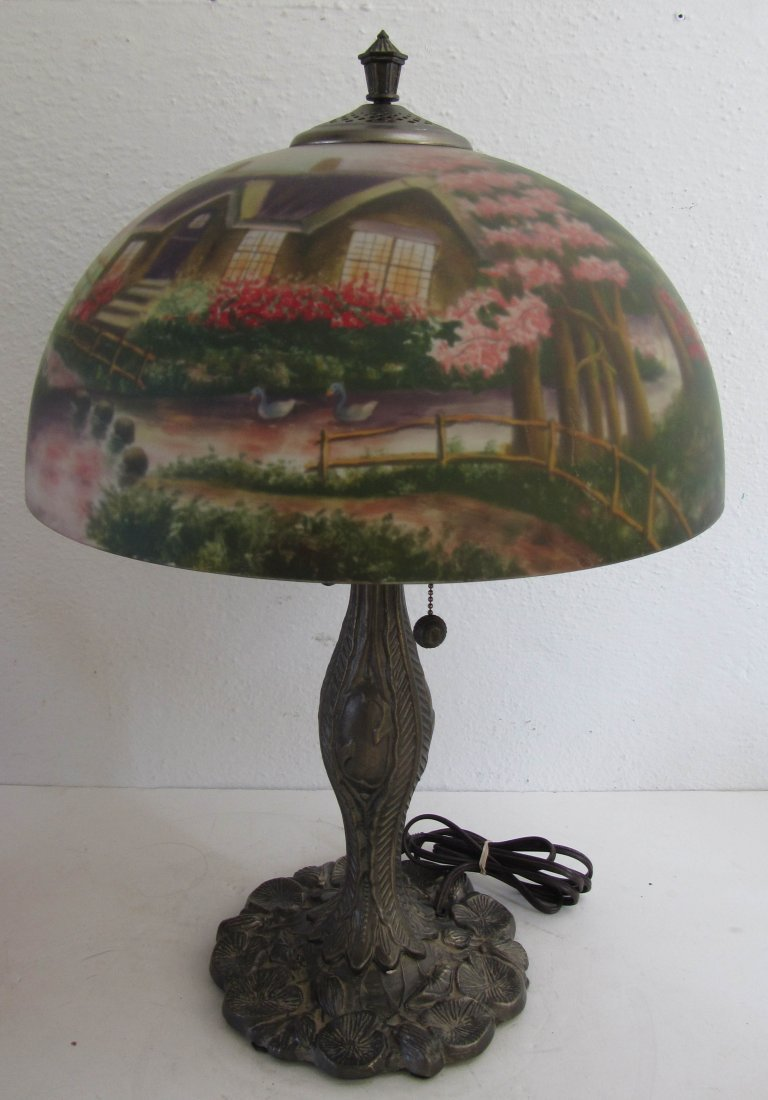 5: Original Thomas Kinkade table lamp