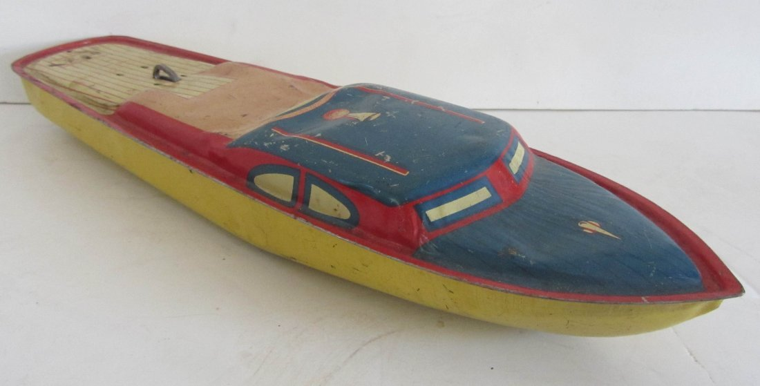 7: Vintage childs toy speed boat