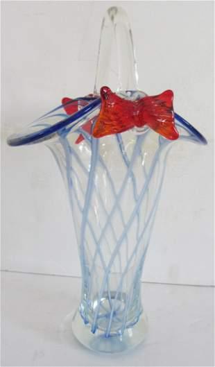 Glass Murano style vase